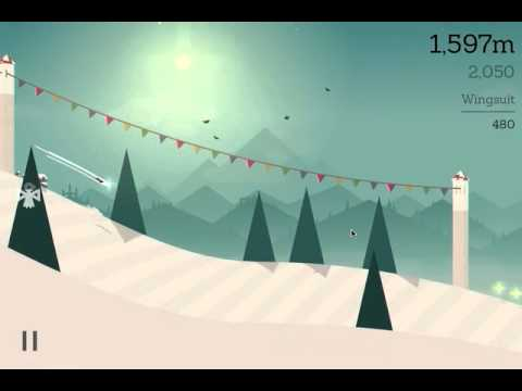 Proximity wingsuit fly for 100m in a row / Alto's Adventure