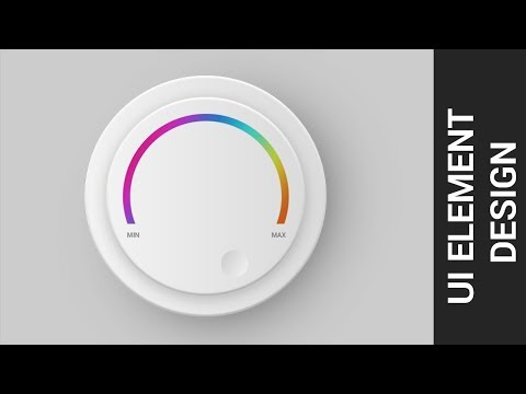 UI design tutorial for beginners | UI Elements Button | photoshop Tutrorial