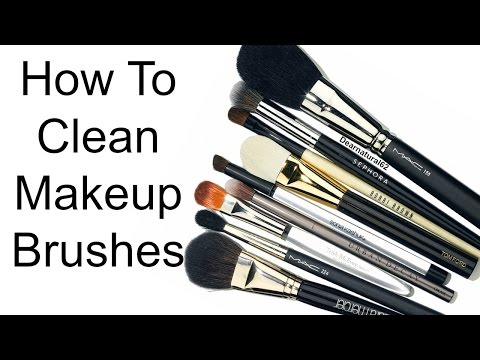 MAKEUP HACK | CLEANING YOUR MAKEUP BRUSHES | Dearnatural62