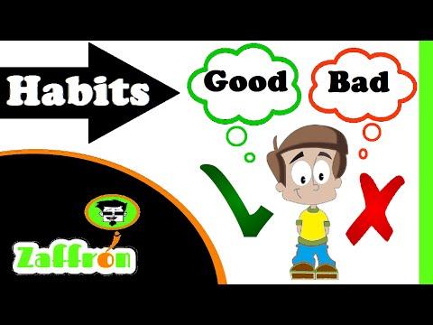 Good habits and bad habits for kids | العادات الجيدة للأطفال | 子供のための良い習慣 | zaffron