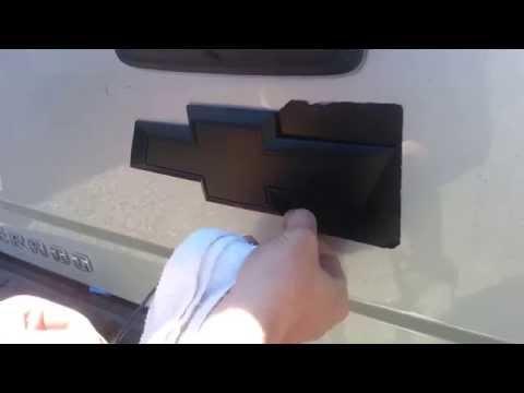 2014 Chevy Silverado Plasti Dipped Emblem!!!