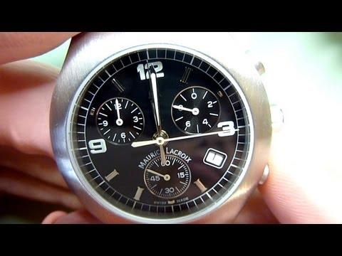 How to fit a new quartz watch movement. Watch repair techniques. ETA 251.262 chronograph