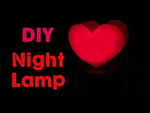 how to make a Night Lamp/ valentine's day gift/DIY home decor
