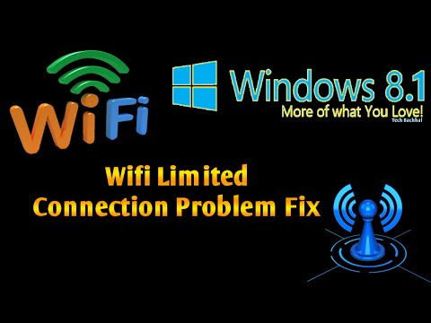 Windows 8.1 Wifi Limited Connection Problem Fix - 4 Ways