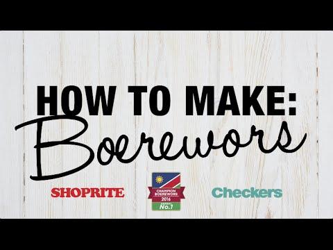 How to make Boerewors