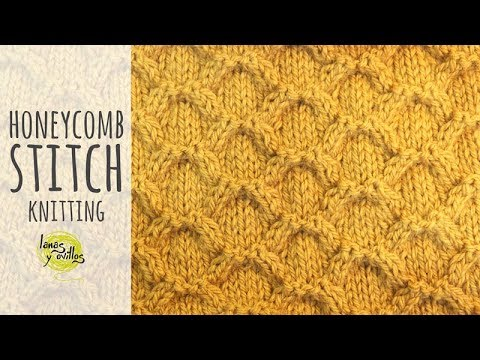 Tutorial Honeycomb Cable Knitting Stitch