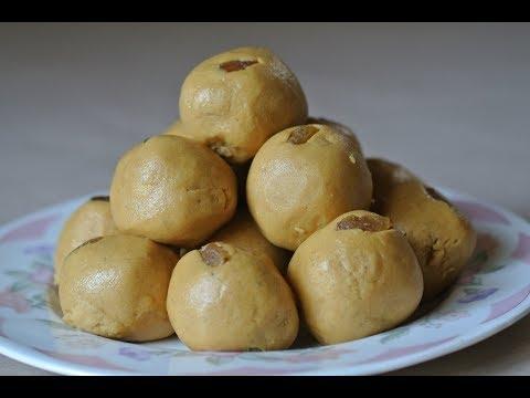 Besan Ladoo made in Desi Ghee/साजुक तुपाचे बेसन लाडू in मराठी/Marathi (Indian Diwali Faral-Sweet)