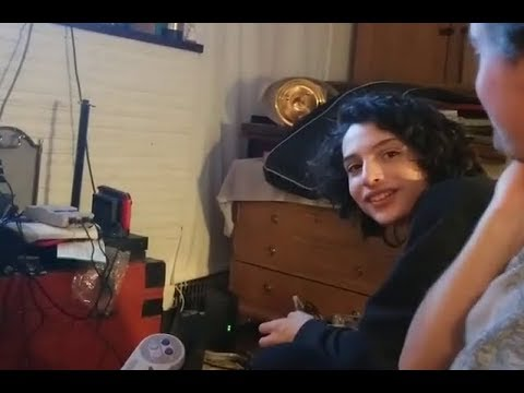 Finn Wolfhard playing games on his birthday