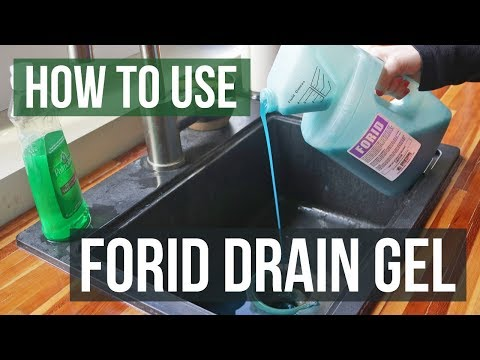How to Get Rid of Drain Flies with Forid Drain Gel Cleaner