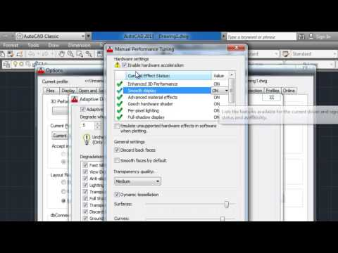 AutoCAD Setting for Best Performance (tips)