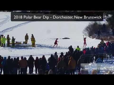 Polar Bear Dip 2018 -Dorchester, New Brunswick, Canada