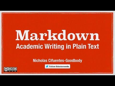 Academic Writing in Markdown