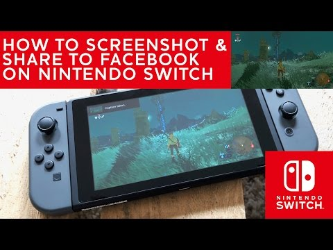 How to take a screenshot and post it on facebook on Nintendo Switch