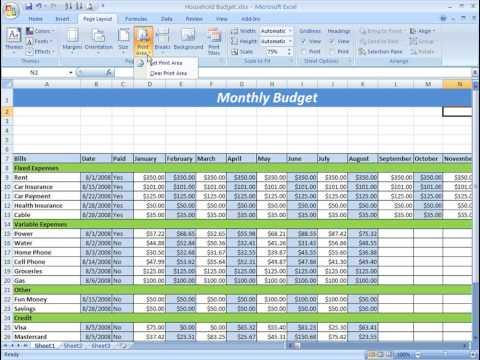 Excel 2007 Tutorial: Printing
