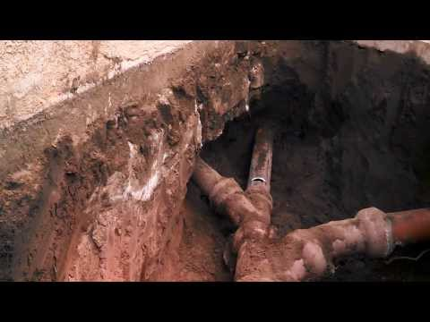 Sewer clay pipe replacement