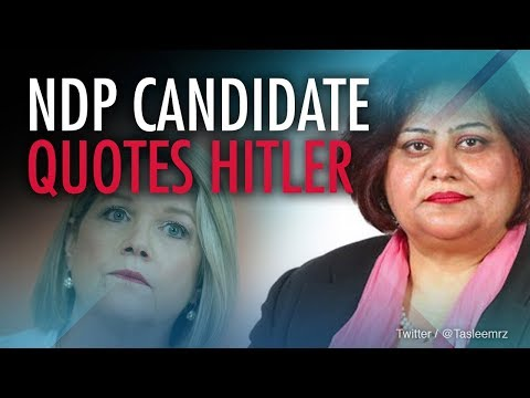 "Horwath ""blames the messenger"" in fallout of candidate's Hitler post"