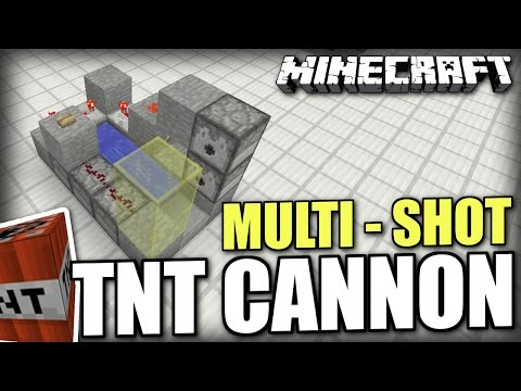 Minecraft PS4 - MULTI SHOT TNT CANNON  - Tutorial ( PS3 / XBOX / WII U / PE )