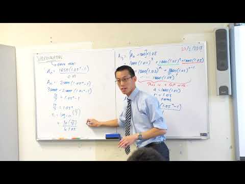 Financial Series - Superannuation (3 of 3: Simplifying the geometric series)