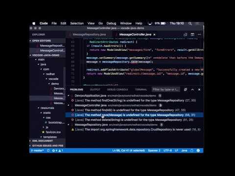 2017-06 Developing Java Applications using Visual Studio Code
