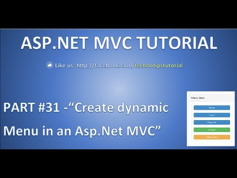 Part 31 - How to create dynamic Menu  in ASP.NET MVC using partial view and bootstrap