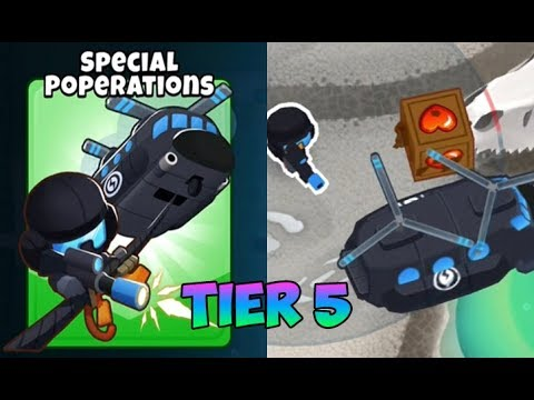 Bloons TD 6 SPECIAL POPERATIONS 5TH TIER HELI PILOT,HPLUX