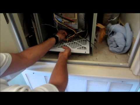 How To Replace Trane XE80 Furnace Air Filter Replacement Change DIY From Old To New