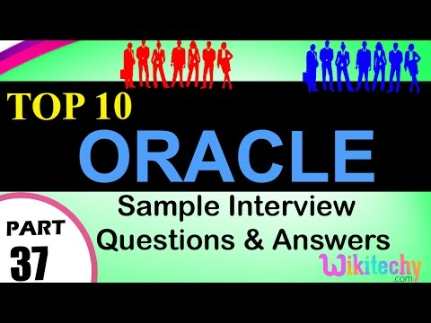 oracle top most important interview questions and answers for freshers / experienced videos