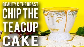 How To Make a CHIP TEACUP CAKE from BEAUTY AND THE BEAST! Chocolate Chip Cake & Chocolate Ganache!
