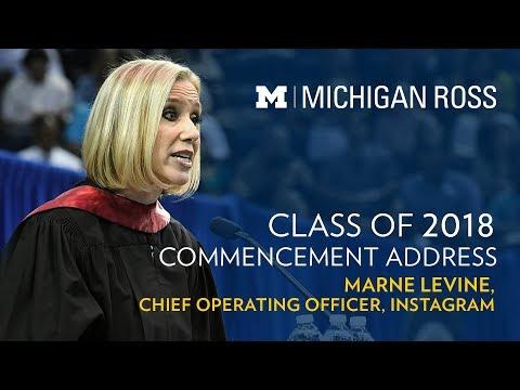 2018 Michigan Ross Commencement Address - Marne Levine, Instagram