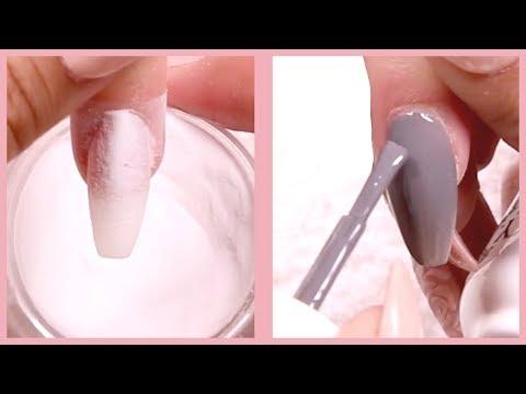 How to Apply Gel Polish on Dip Powder Nail Tutorial