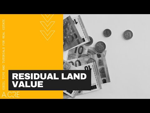 Calculating Residual Land Value Using Excel
