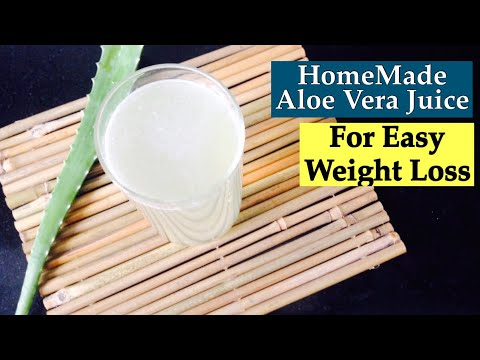 HomeMade Aloe Vera juice Recipe | How to make Aloevera juice at home | Healthy weight loss