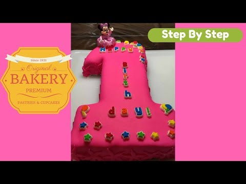 1 shape First Birthday Cake step by step guide