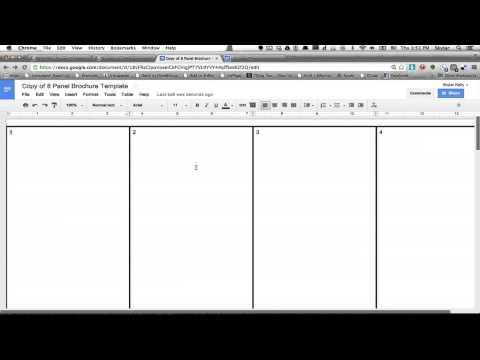 How to Make a Brochure Using Google Docs : Using Firefox & Google