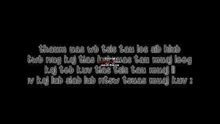 Tsom Xyooj - Koj siab dub with lyric on Screen
