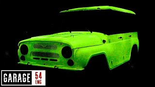 Coating an UAZ with glow in the dark paint