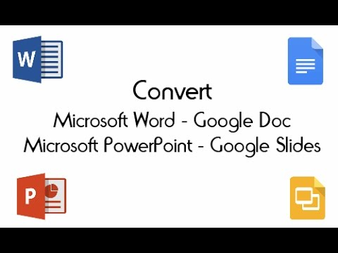 Convert Microsoft Word and PowerPoint documents to Google Docs or Slides