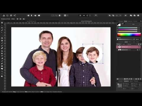 Affinity Photo - How to swap out a face