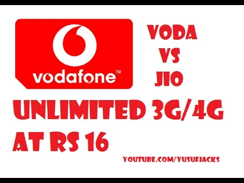 Vodafone Offers Unlimited 3G/ 4G Rs. 16 [Hindi/Urdu]