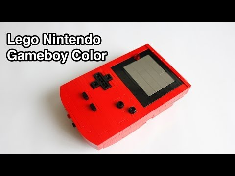 Lego Nintendo Gameboy Color (with instructions)