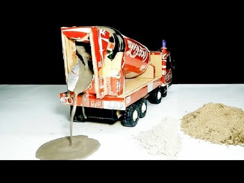 How to make Remote control Cement Mixer Truck for Kids