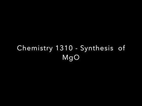 Synthesis of MgO