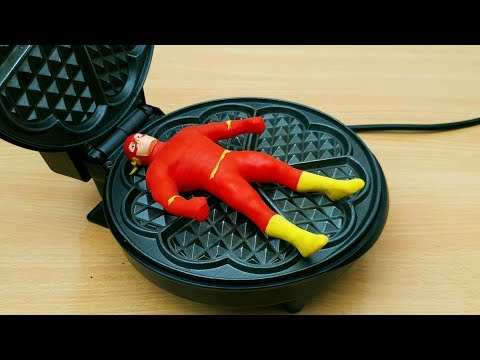 Xxx Mp4 EXPERIMENT WAFFLE IRON Vs THE FLASH STRETCH FIGURE Oddly Satisfying 3gp Sex