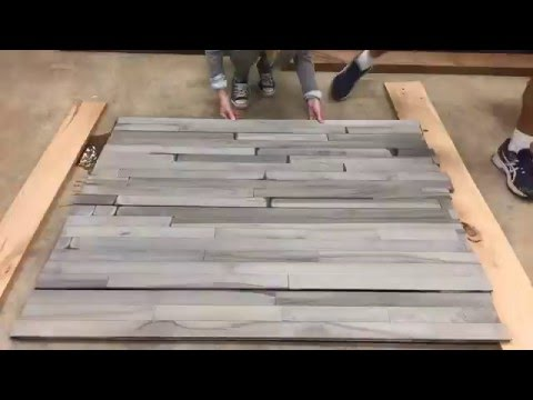 TimeLapse: #Driftwood gray look on HARD MAPLE flooring.
