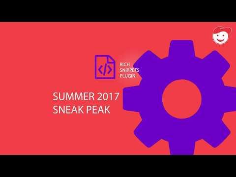 Rich Snippets WordPress Plugin Sneak Peak 2017