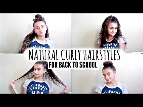 4 Easy Back To School Hairstyles For Natural Curly Hair!💕