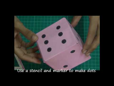 Make a dice - [Best out of waste]