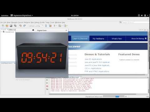 JavaFX Digital Clock example of Netbeans IDE