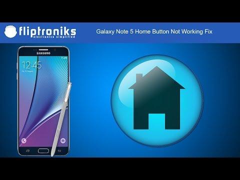 Samsung Galaxy Note 5 Home Button Not Working Fix - Fliptroniks.com