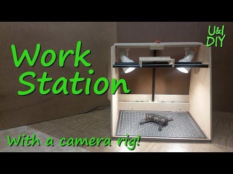 Overhead camera rig work station - DIY Tutorial